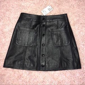 Faux Leather Mini Skirt H&M